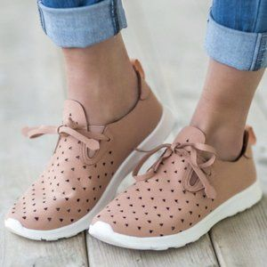 Not Rated Mauve Pink Laser Cut Marlum Sneakers